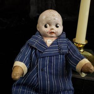 Antique edwardian composition head doll.
